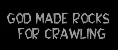God Made Rocks for Crawling Decal