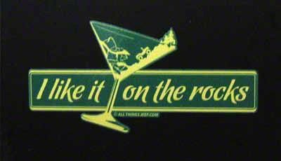 I Like It On The Rocks Decal