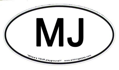 MJ Euro-Style Oval Decal