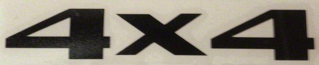 4x4 Decal - Camo