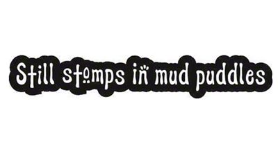 Still Stomps in Mud Decal - Black