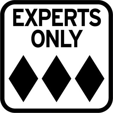 EXPERTS ONLY Road Sign Decal