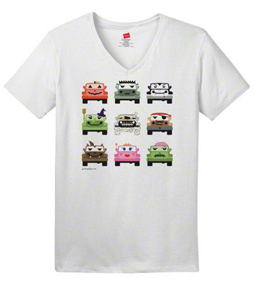Women's Jeep Monster Mash V-Neck T-Shirt