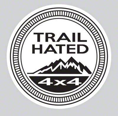 Trail Hated Decal - Black