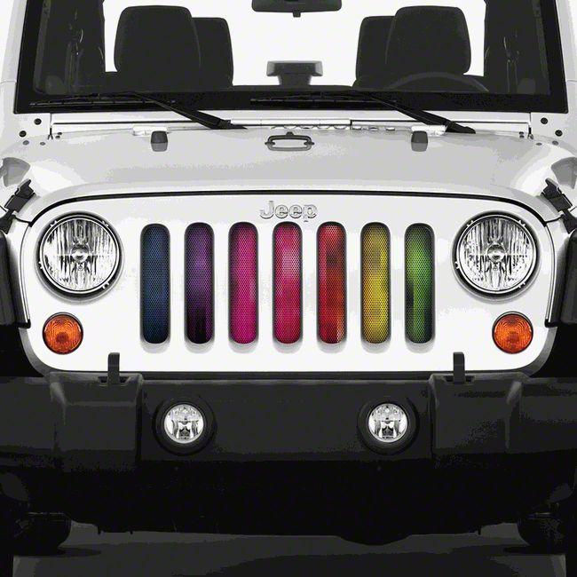 Dirty Acres Grille Insert - Pixelations (07-18 Jeep Wrangler JK)