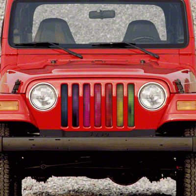 Dirty Acres Grille Insert - Pixelations (97-06 Jeep Wrangler TJ)