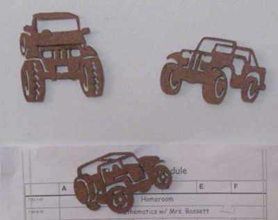 Rustic Jeep Wrangler Magnets