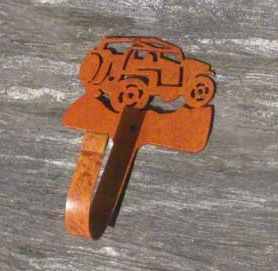 Rustic Jeep Coat Hook - Rear View