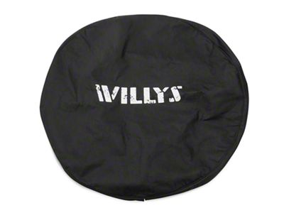 Mopar 32 in. Willys Spare Tire Cover - Black (87-19 Jeep Wrangler YJ, TJ, JK & JL)
