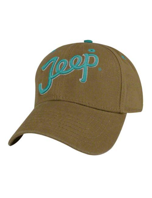 Mopar Jeep Teal Script Ladies Hat