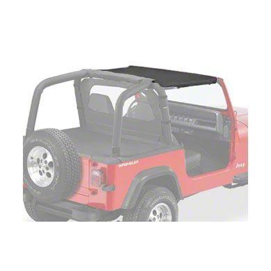 Pavement Ends Sun Cap - Black Denim (87-91 Jeep Wrangler YJ)
