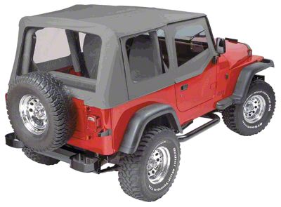 Pavement Ends Replay Top w/ Clear Windows - Charcoal (88-95 Jeep Wrangler YJ w/ Steel Half Doors)
