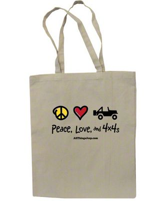 Peace, Love & 4x4 Canvas Tote Bag