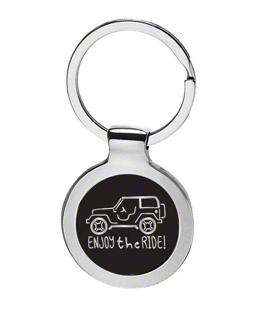 Enjoy the Ride Keychain