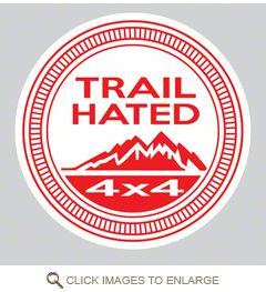 Trail Hated Decal - Red