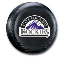 Colorado Rockies MLB Spare Tire Cover - Black (87-18 Jeep Wrangler YJ, TJ, JK & JL)