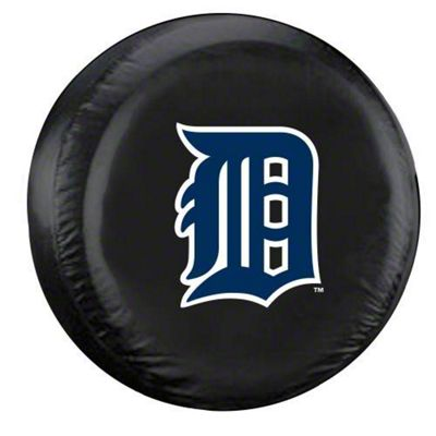 Detroit Tigers MLB Spare Tire Cover - Black (87-18 Jeep Wrangler YJ, TJ, JK & JL)