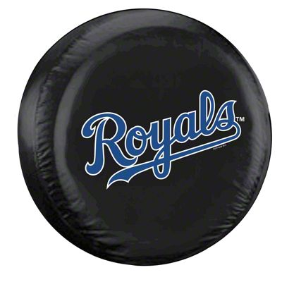 Kansas City Royals MLB Spare Tire Cover - Black (87-18 Jeep Wrangler YJ, TJ, JK & JL)