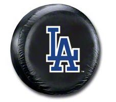 LA Dodgers MLB Spare Tire Cover - Black (87-18 Jeep Wrangler YJ, TJ, JK & JL)