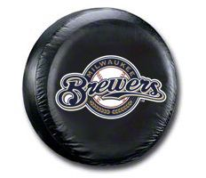 Milwaukee Brewers MLB Spare Tire Cover - Black (87-18 Jeep Wrangler YJ, TJ, JK & JL)