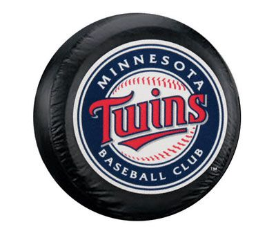 Minnesota Twins MLB Spare Tire Cover - Black (87-18 Jeep Wrangler YJ, TJ, JK & JL)