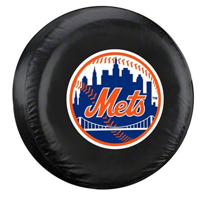 New York Mets MLB Spare Tire Cover - Black (87-18 Jeep Wrangler YJ, TJ, JK & JL)