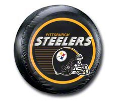 Pittsburgh Steelers Helmet NFL Spare Tire Cover - Black (87-18 Jeep Wrangler YJ, TJ, JK & JL)