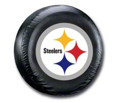 Pittsburgh Steelers Logo NFL Spare Tire Cover - Black (87-18 Jeep Wrangler YJ, TJ, JK & JL)