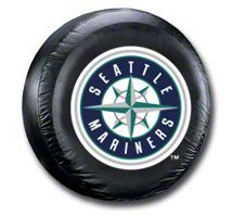 Seattle Mariners MLB Spare Tire Cover - Black (87-18 Jeep Wrangler YJ, TJ, JK & JL)