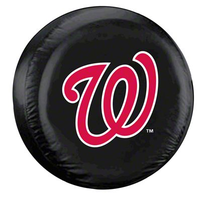 Washington Nationals MLB Spare Tire Cover - Black (87-18 Jeep Wrangler YJ, TJ, JK & JL)