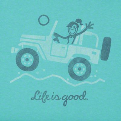Life is Good Women's Off Road Greeting T-Shirt - XL