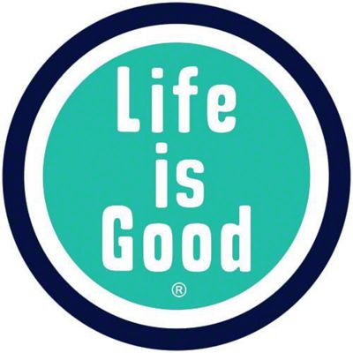 Life is Good Good Circle Car Magnet - Blue