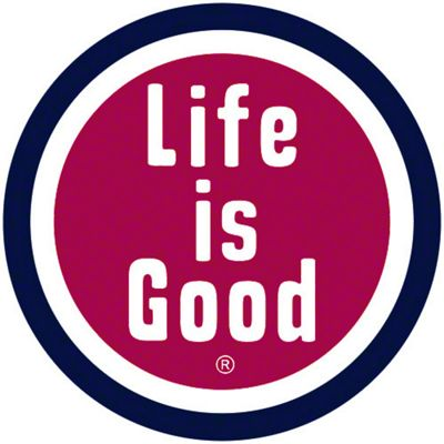 Life is Good Good Circle Car Magnet - Purple