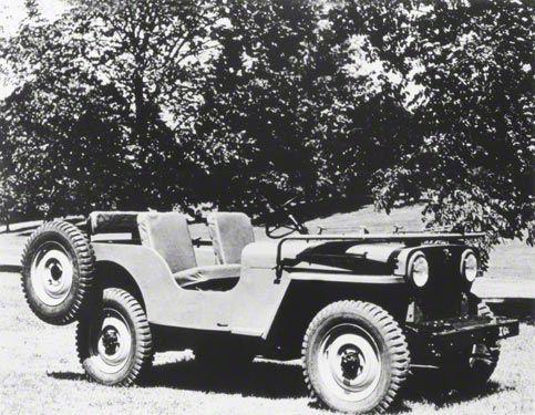 1946 Jeep CJ2A Refrigerator Magnet
