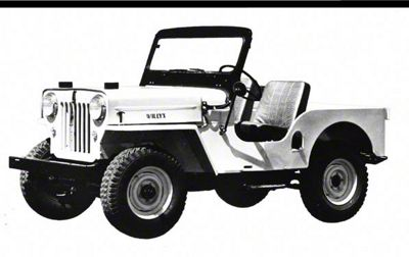 1953 Jeep CJ-3B Refrigerator Magnet