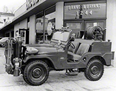 1960 Jeep CJ-5 Fire Truck Refrigerator Magnet