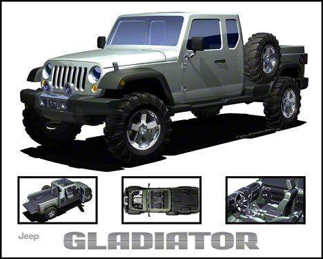 Jeep Gladiator Concept JK Refrigerator Magnet