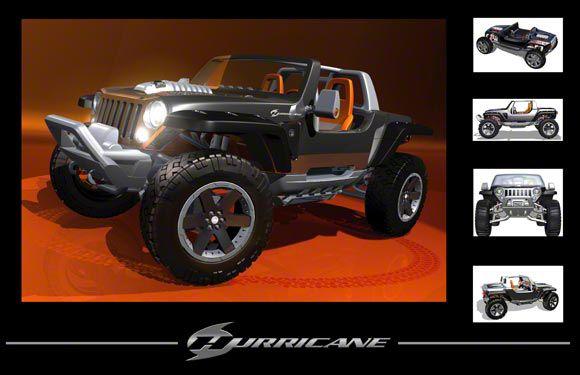 Jeep Hurricane Concept Refrigerator Magnet
