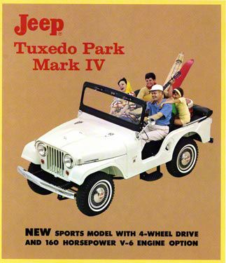1965 Jeep Tuxedo Park Advertisement Refrigerator Magnet