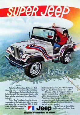 1973 Super Jeep CJ5 Ad Refrigerator Magnet