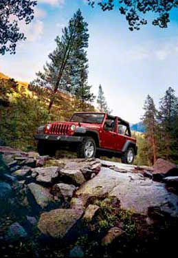 2007 Jeep Wrangler JK Unlimited Autumn Mountains Refrigerator Magnet