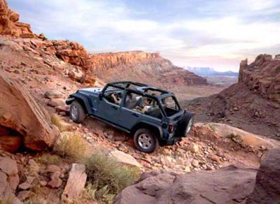 2007 Jeep Wrangler JK Unlimited Rubicon Off Road Climb Refrigerator Magnet