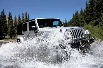 2007 Jeep JK Wrangler Unlimited Splashing Refrigerator Magnet