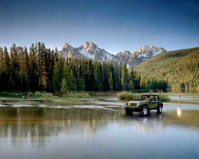 2007 Jeep Wrangler JK Unlimited Rubicon Lake Refrigerator Magnet