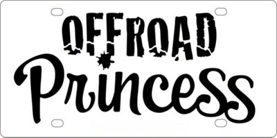 Offroad Princess License Plate