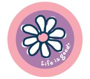 Life is Good Daisy Sticker