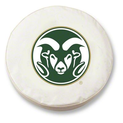 Colorado State University Spare Tire Cover - White (87-18 Jeep Wrangler YJ, TJ, JK & JL)