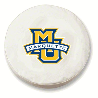 Marquette University Spare Tire Cover - White (87-18 Jeep Wrangler YJ, TJ, JK & JL)