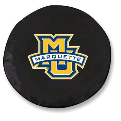 Marquette University Spare Tire Cover - Black (87-18 Jeep Wrangler YJ, TJ, JK & JL)
