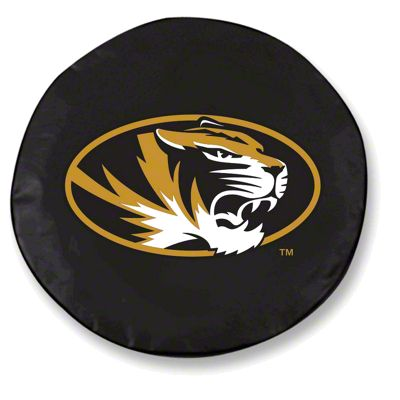 University of Missouri Spare Tire Cover - Black (87-18 Jeep Wrangler YJ, TJ, JK & JL)